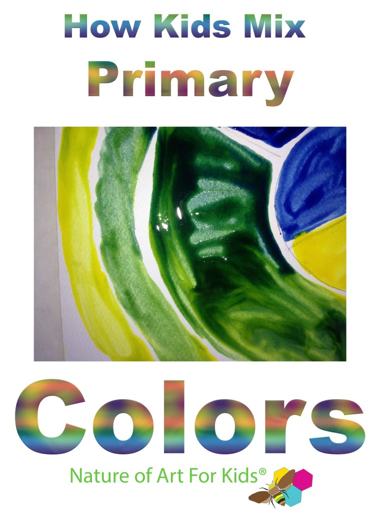 Coloring for Kids color mixing kids : Kids Mixing Primary Colors, art lesson 12 step color wheel teach |