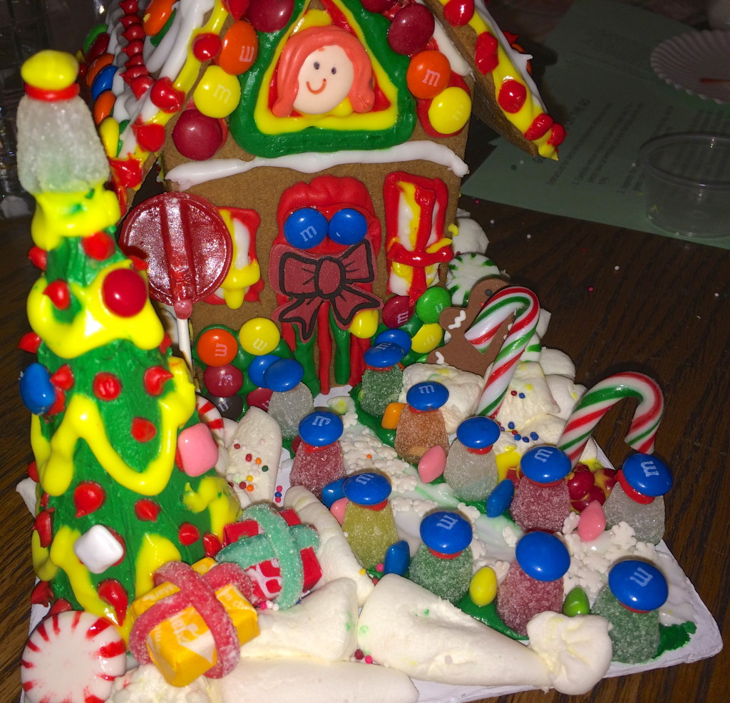 Christmas Gingerbread House Decorating With Kids & Holiday