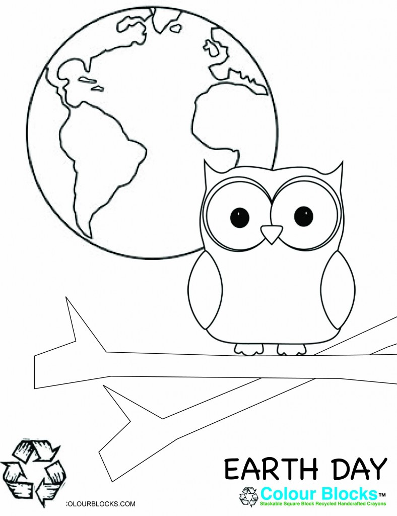 Earth Day Coloring Page, earth-friendly