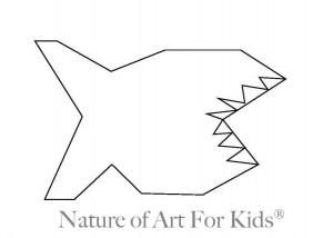 paint shark craft for kids