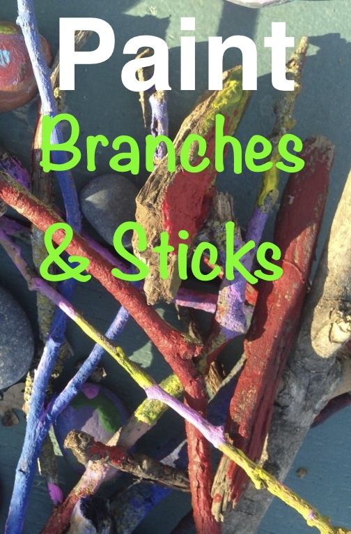 Paint Branches N Sticks Kids Art Project