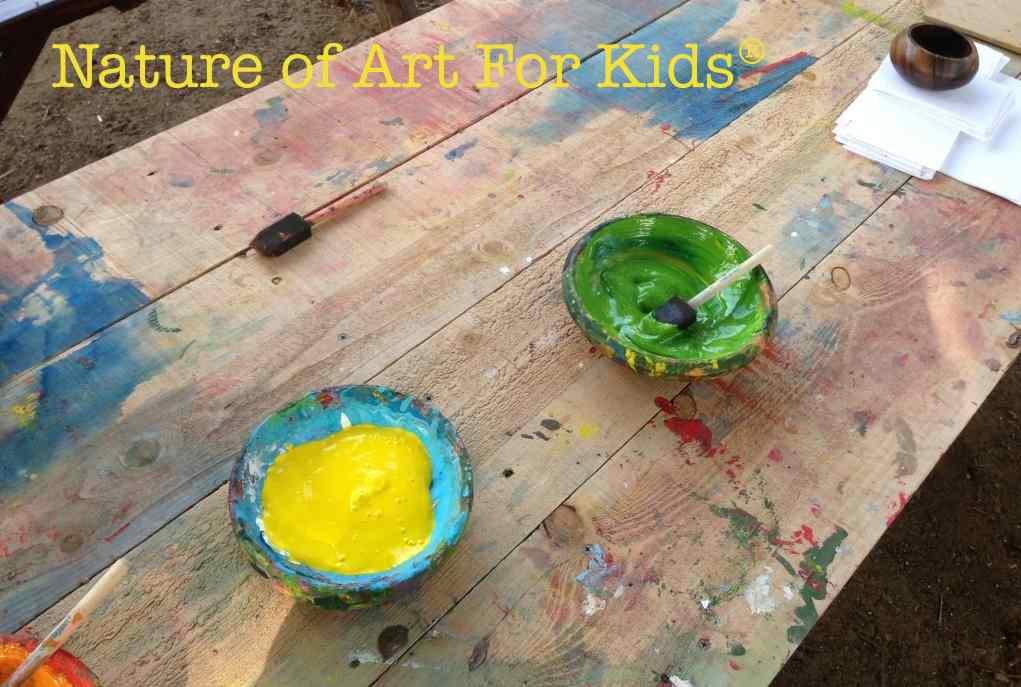 Nature Kids Art Paint Project
