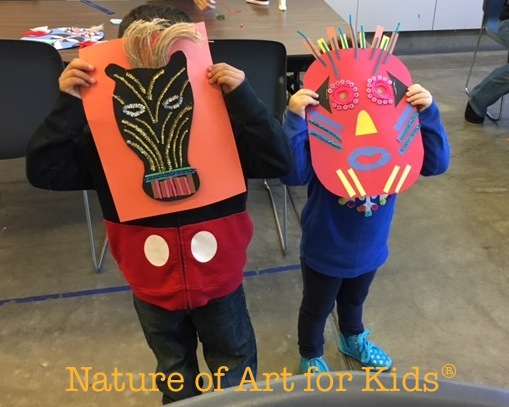 African Mask Craft Project Kids