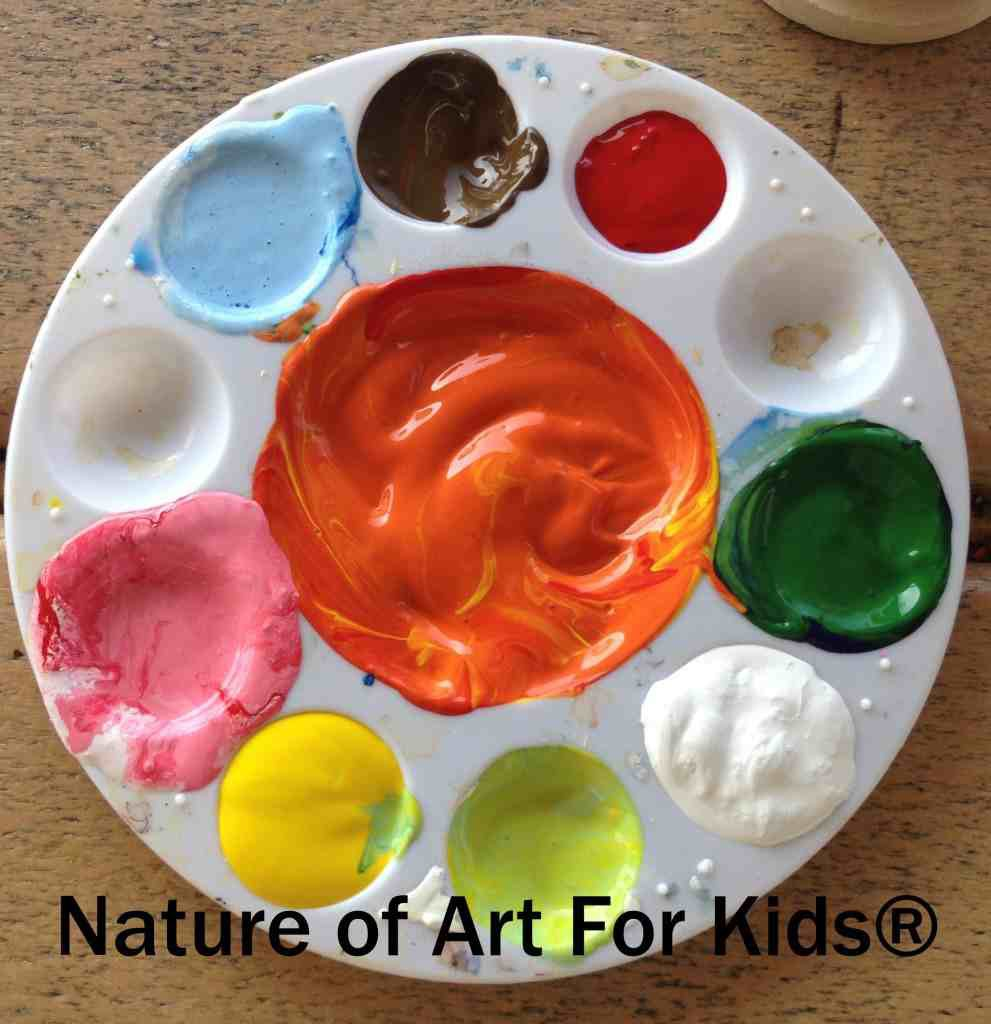 Kids Acrylic Paint   Art Projects mixing colors