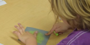 Kids Creating Art At Home