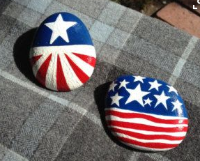 July 4th Rock Painting Kids Art Project