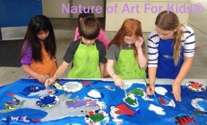 how to teach school kids process art