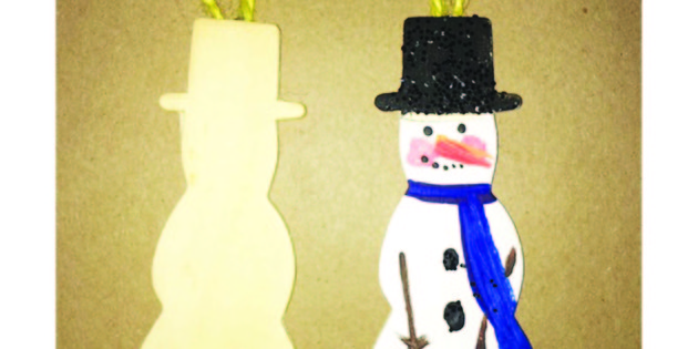 Painting Holiday Ornaments, Kids Crafts