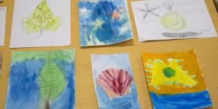 Children's Sensory Drawing Lesson – Leaf & Nature