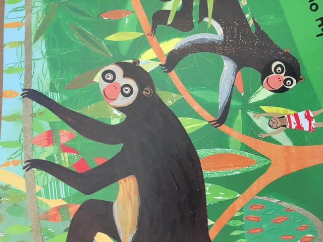 Kids Art Project | Rainforest | Oil Pastels, lesson homeschool