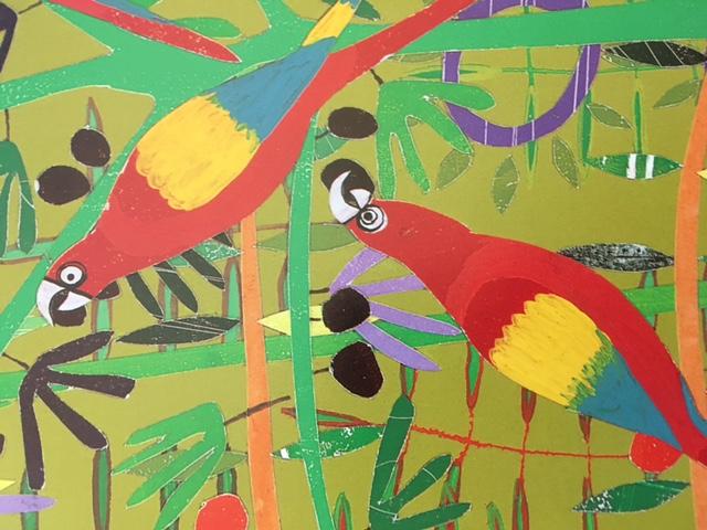 Kids Art Project | Rainforest | Oil Pastels, eco kids art