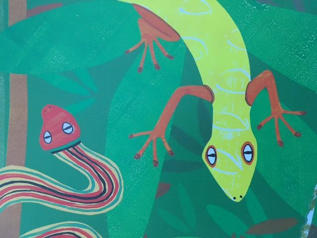 Kids Art Project | Rainforest | Oil Pastels