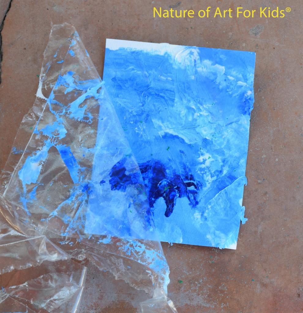 Kids Art Painting | Ocean Water | Map Technique Lessons plastic