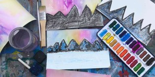 Winter Art Project video | Northern Lights Watercolor